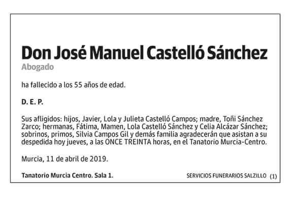 José Manuel Castelló Sánchez