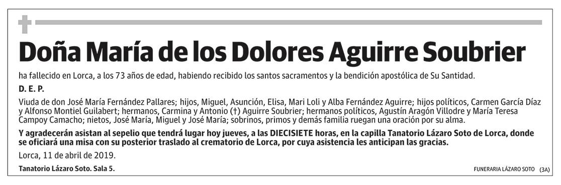 María de los Dolores Aguirre Soubrier