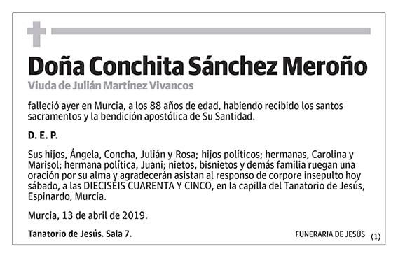 Conchita Sánchez Meroño