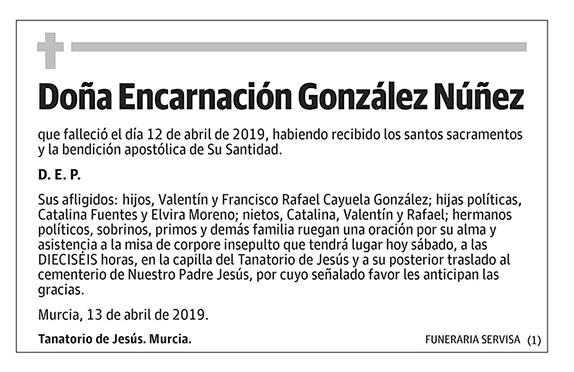 Encarnación González Núñez