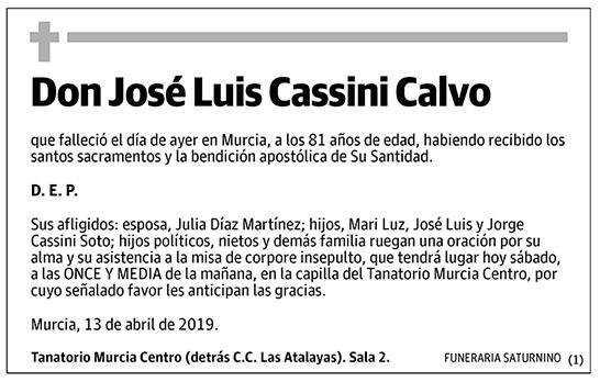 José Luis Cassini Calvo