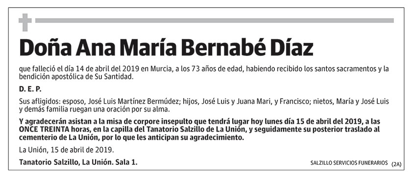 Ana María Bernabé Díaz