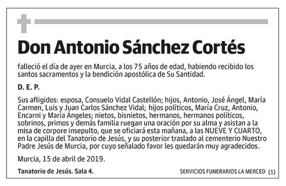 Antonio Sánchez Cortés