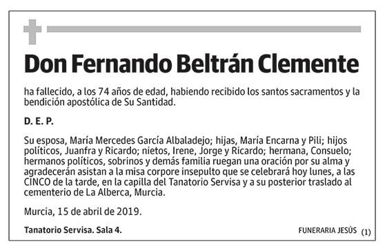 Fernando Beltrán Clemente
