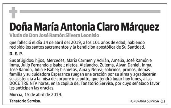 María Antonia Claro Márquez