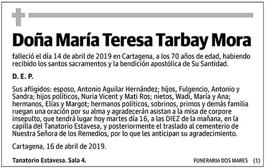 María Teresa Tarbay Mora
