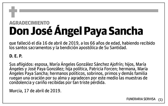 José Ángel Paya Sancha