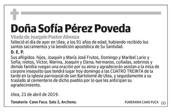 Sofía Pérez Poveda