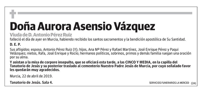 Aurora Asensio Vázquez