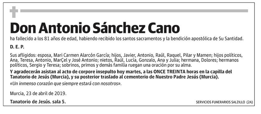 Antonio Sánchez Cano