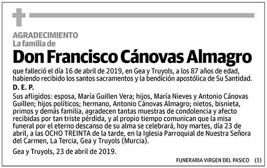 Francisco Cánovas Almagro