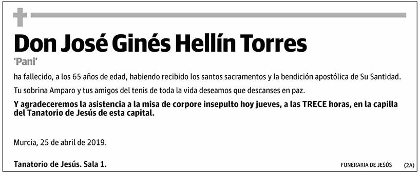 José Ginés Hellín Torres