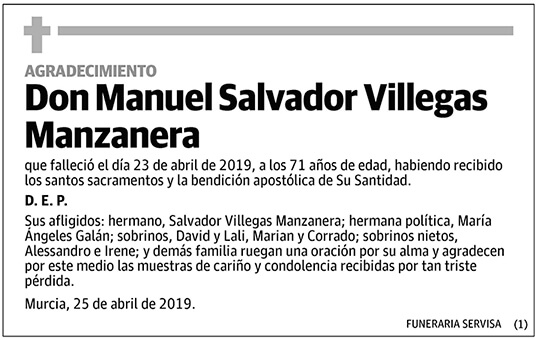 Manuel Salvador Villegas Manzanera
