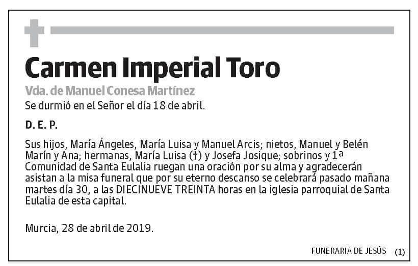 Carmen Imperial Toro