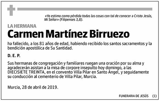 Carmen Martínez Birruezo