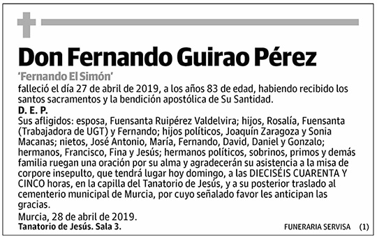 Fernando Guirao Pérez