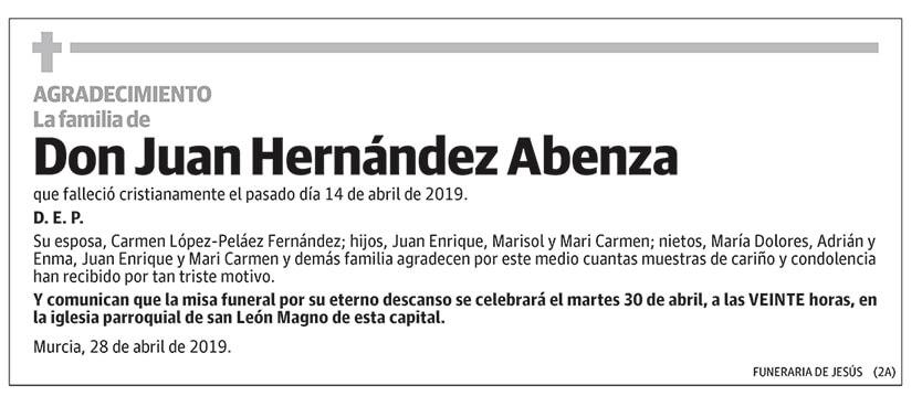 Juan Hernández Abenza