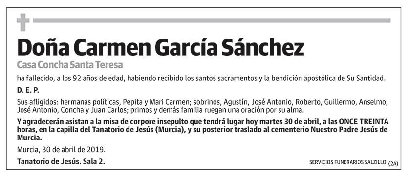 Carmen García Sánchez