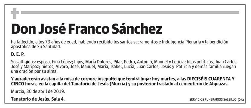José Franco Sánchez