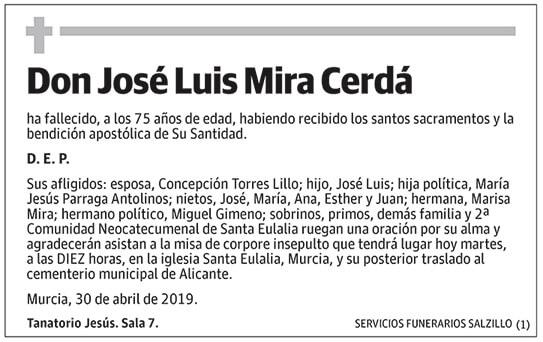 José Luis Mira Cerdá