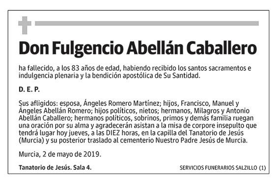 Fulgencio Abellán Caballero