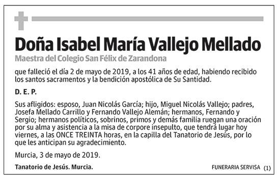 Isabel María Vallejo Mellado