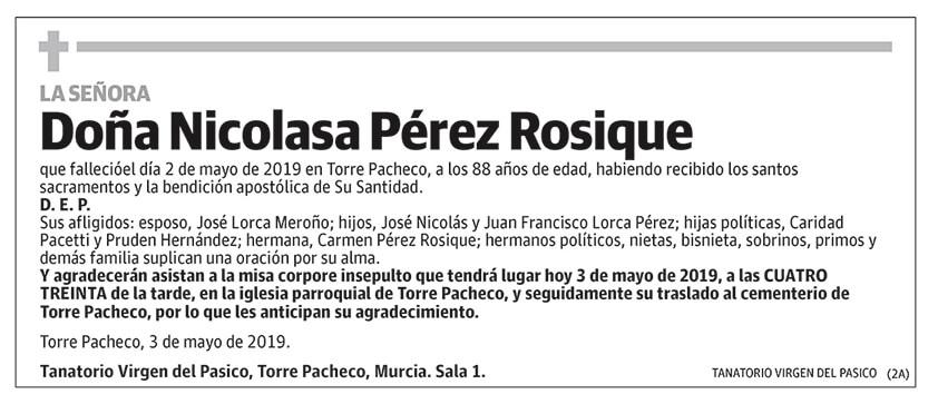 Nicolasa Pérez Rosique