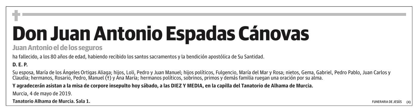 Juan Antonio Espadas Cánovas