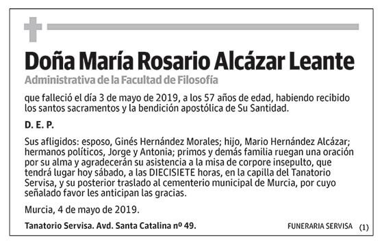 María Rosario Alcázar Leante