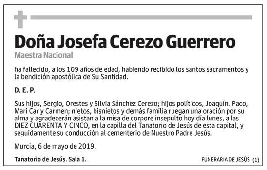 Josefa Cerezo Guerrero