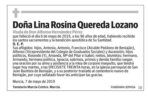 Lina Rosina Quereda Lozano