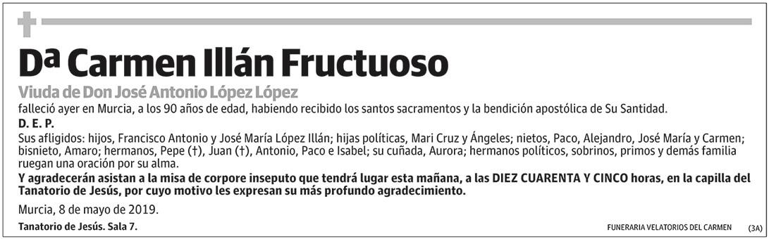 Carmen Illán Fructuoso