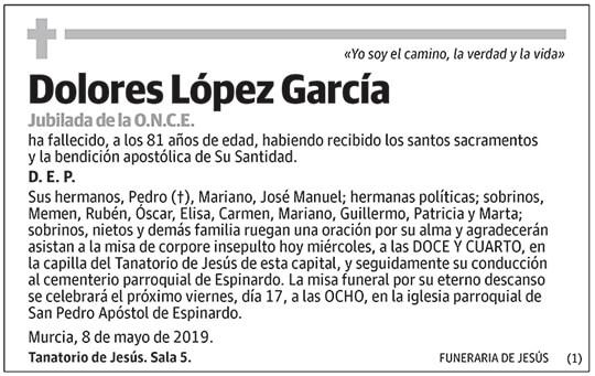 Dolores López García
