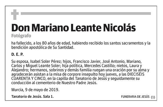 Mariano Leante Nicolás