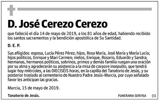 José Cerezo Cerezo