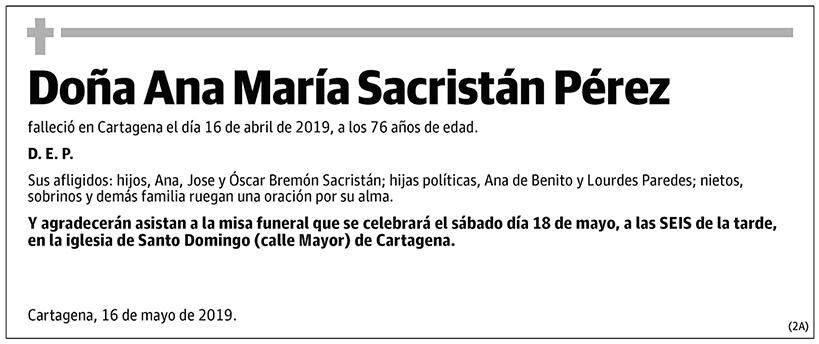 Ana María Sacristán Pérez