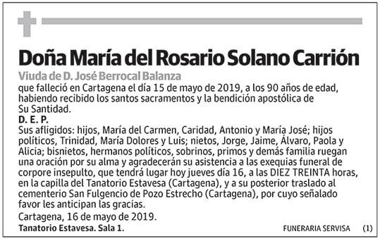 María del Rosario Solano Carrión