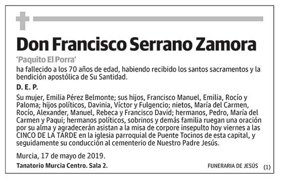 Francisco Serrano Zamora