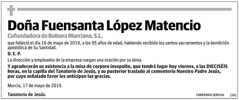 Fuensanta López Matencio