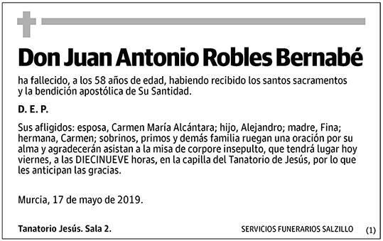 Juan Antonio Robles Bernabé