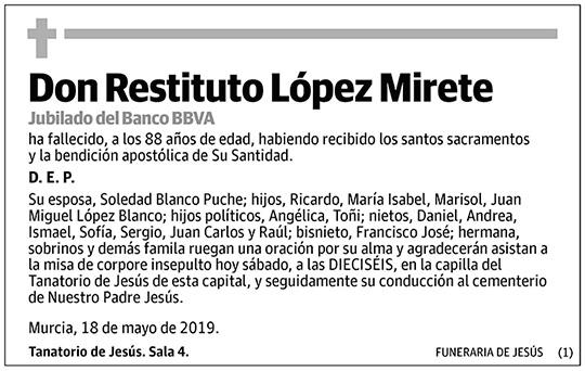 Restituto López Mirete