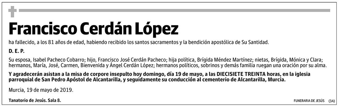 Francisco Cerdán López